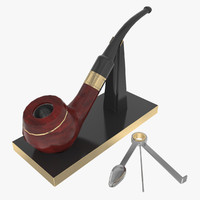 3d smoking pipe model