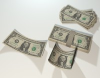 money dollar bill obj