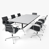vitra conference table 3d obj