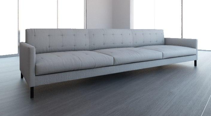 3d model sofa white cloth