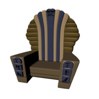 Cartoon Style Egyptian Throne