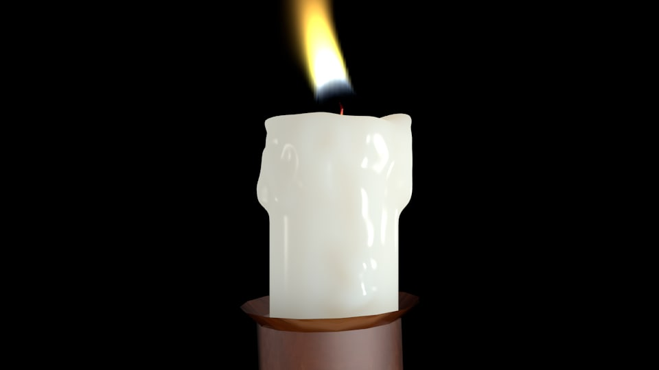 realistic candle flame animation 3d blend