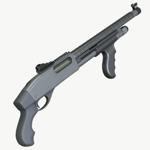 short remington 870 3d model