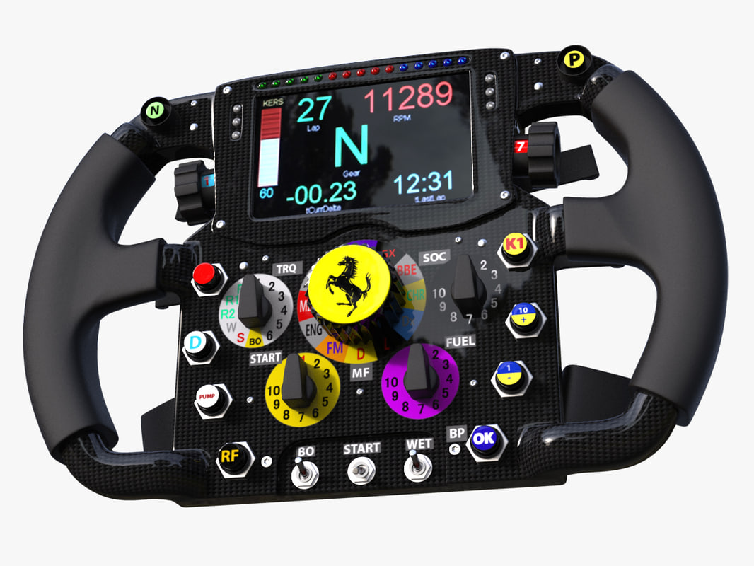 3d Steering Wheel Ferrari F14t