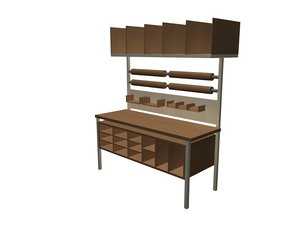 packing workstation 3d model