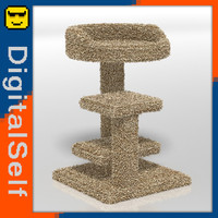 cat tower 3d obj