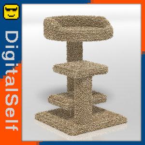 cat tower 3d obj