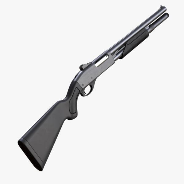 3ds max remington 870