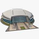Cowboys Stadium Low-Poly