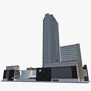 low-poly museum modern art 3d model