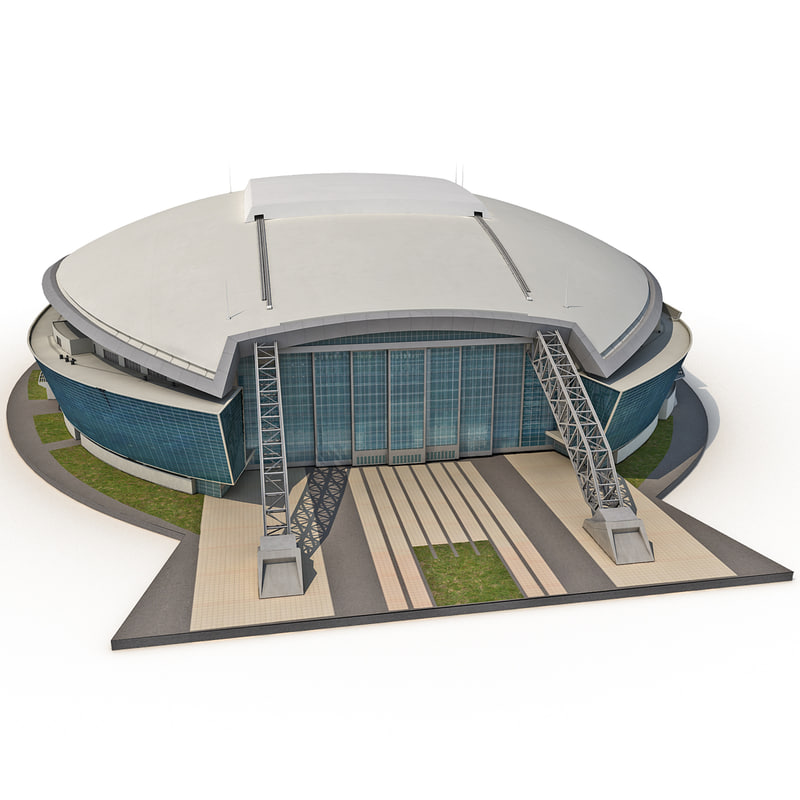 cowboys stadium low-poly obj