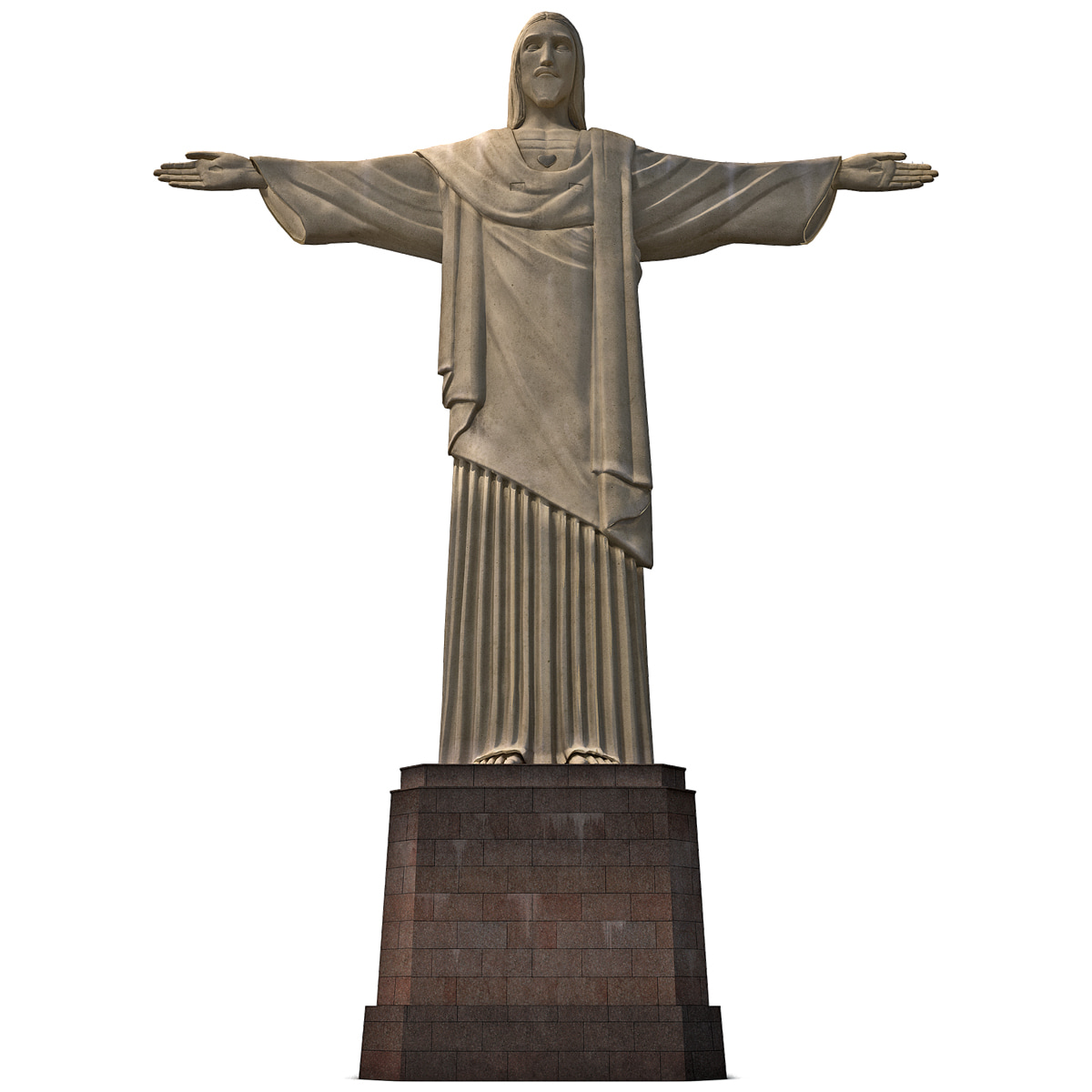 3dsmax cristo redentor low-poly