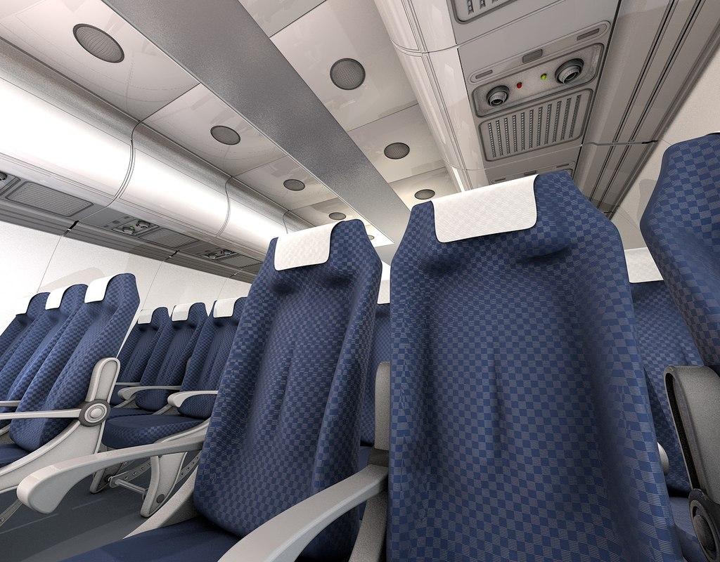 cinema4d airplane interior