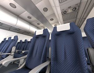 cinema4d airplane interior