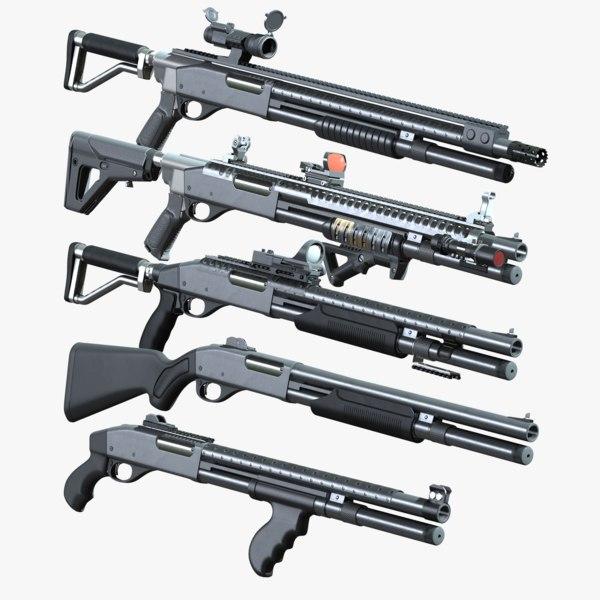 3d remington 870