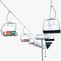 ski lift 3d max