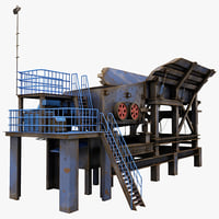 3ds max stone crusher machine