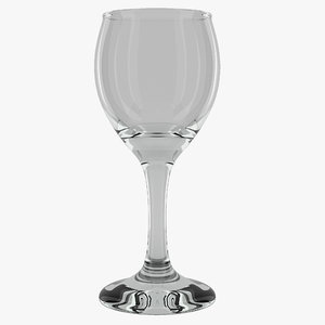 3d sherry glass