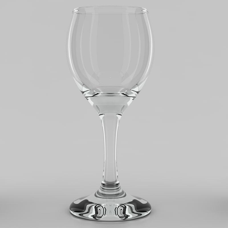 3d sherry glass