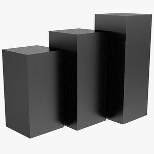 3ds max tecno square gallery pedestal