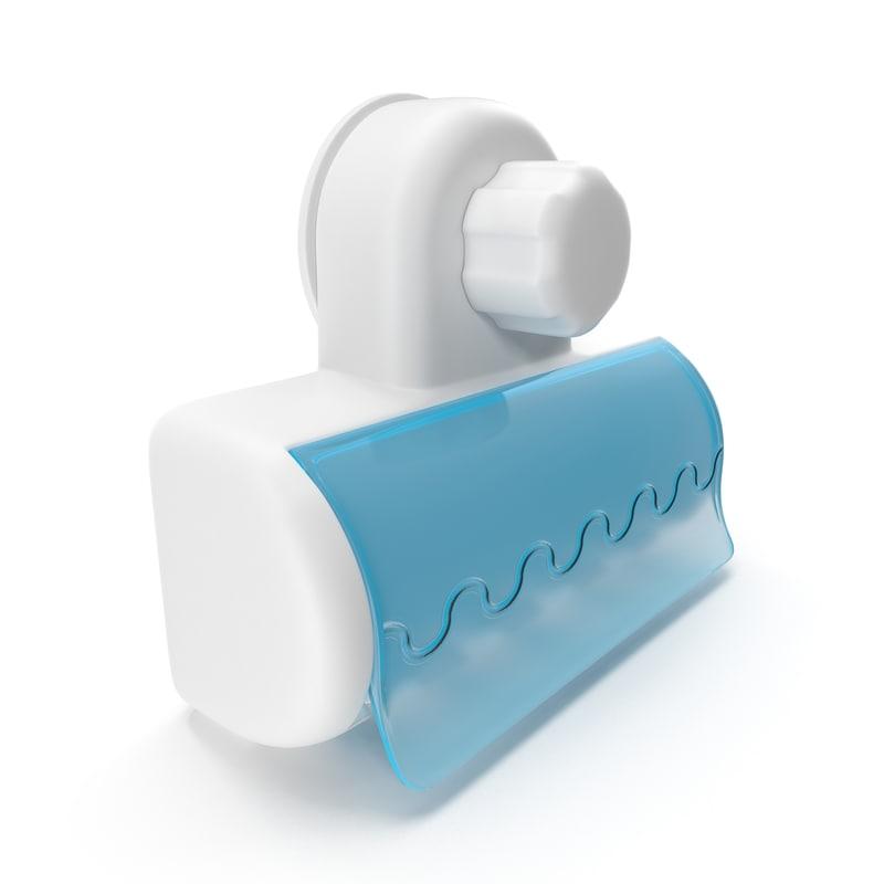 toothbrush holder wall mount 3d model