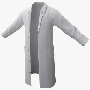 white lab coat 2 3d model