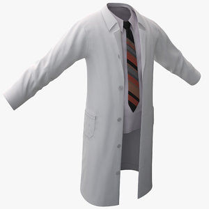 3ds max white lab coat