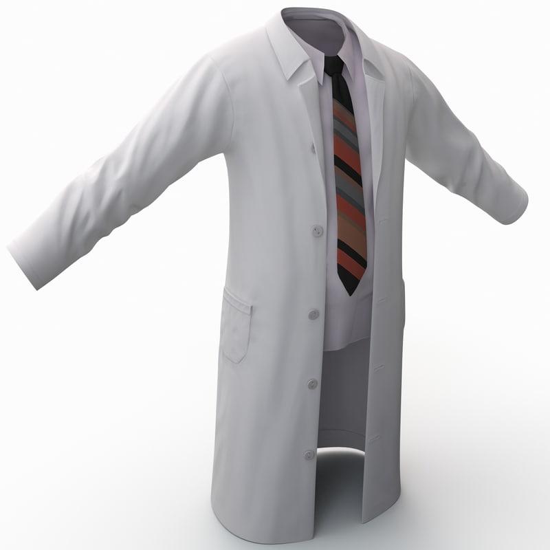 3ds max white lab coat