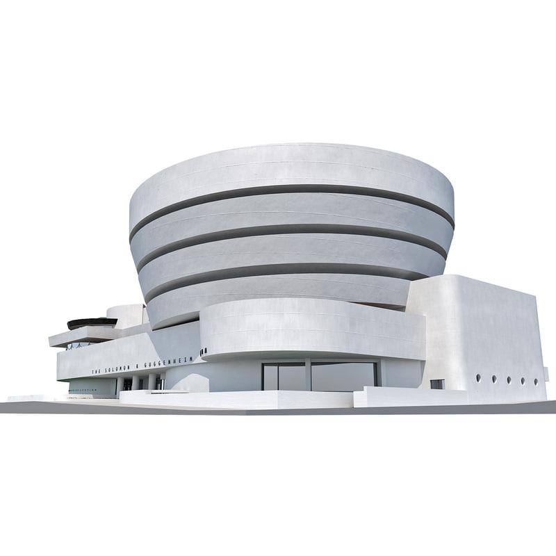 solomon r guggenheim museum 3d model