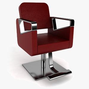 barber chair hair 3ds