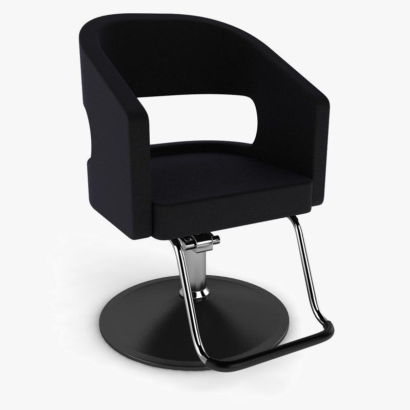 3d model barber chair hair