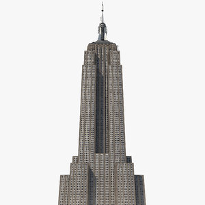 3d empire state building low-poly model