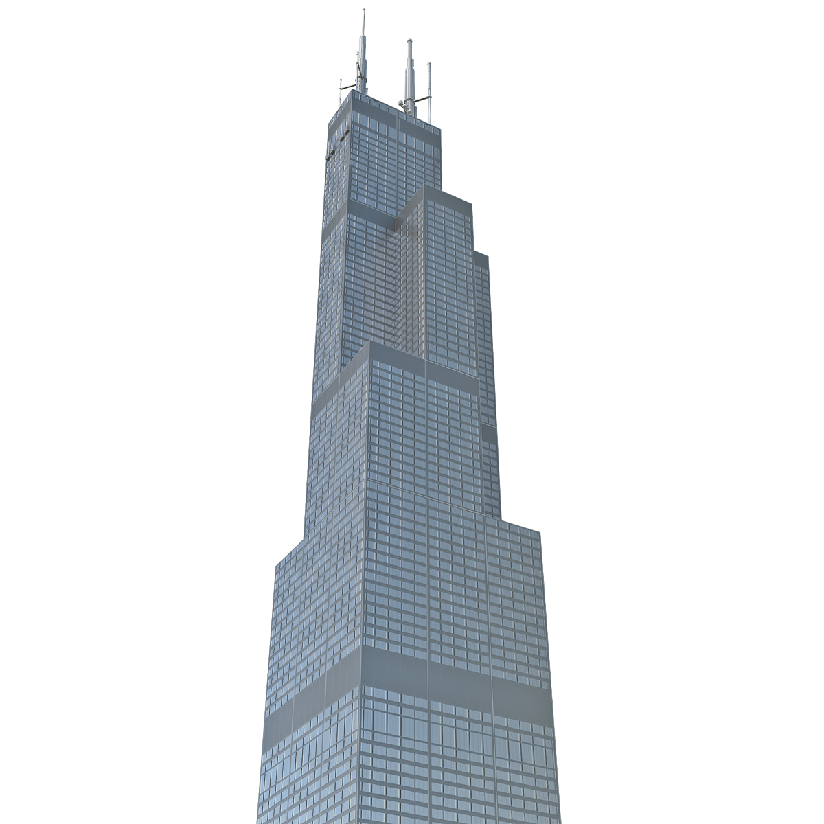 3ds max willis tower low-poly