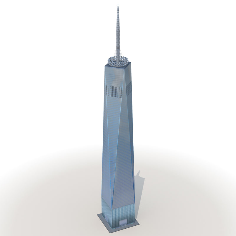 3d model world trade center low-poly