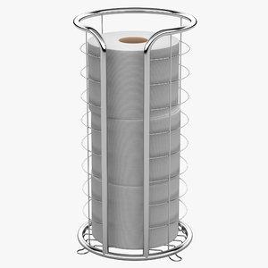 wire toilet paper storage 3d model