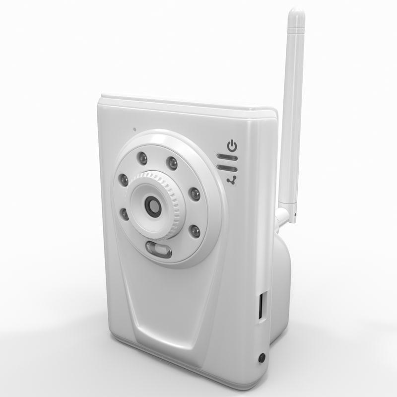wireless video camera hawking 3d model