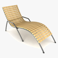 lounger lounge sun 3d model