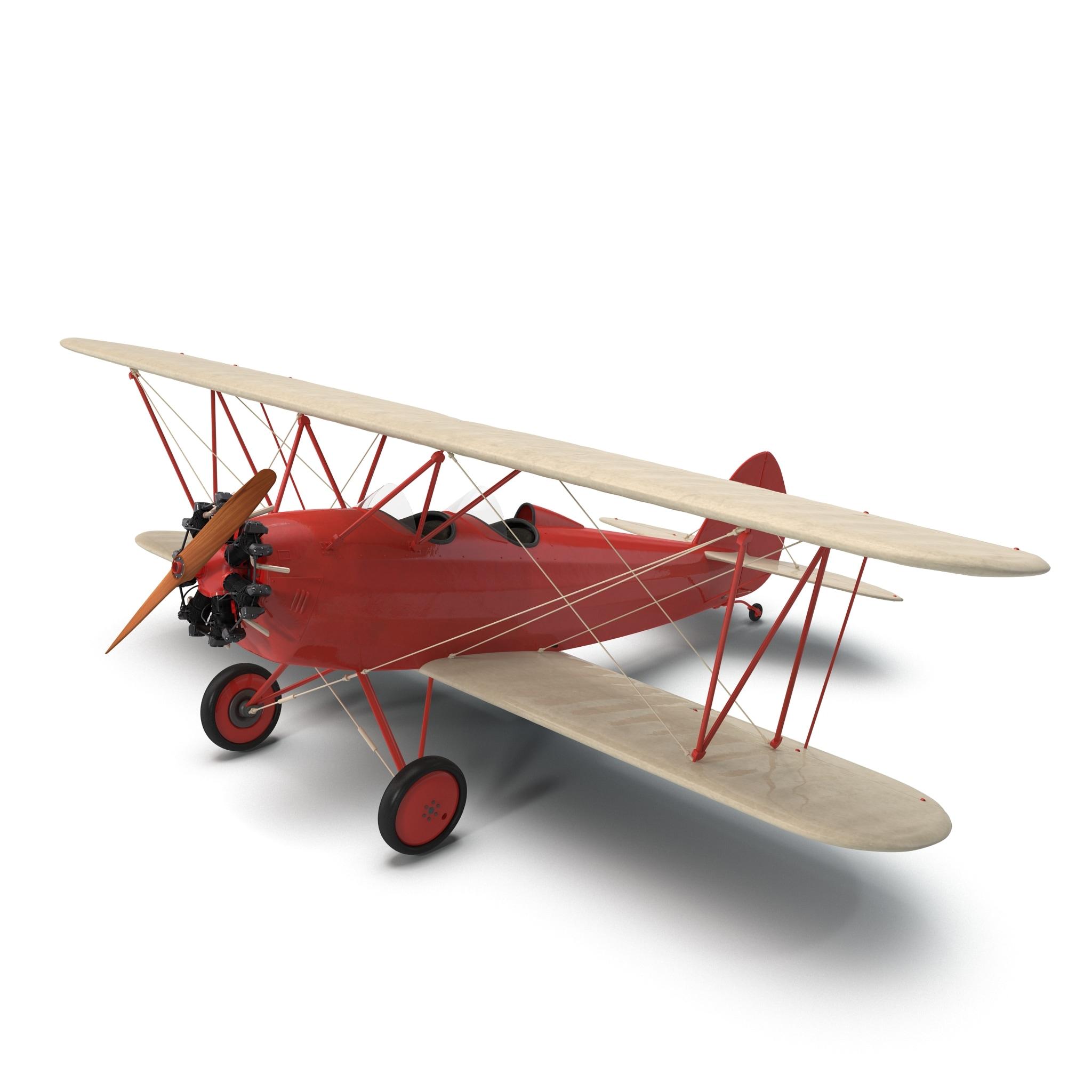 ww1 biplane 3d model