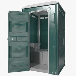 3d portable toilet 2 model