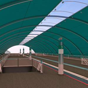 3d subway station 3 model