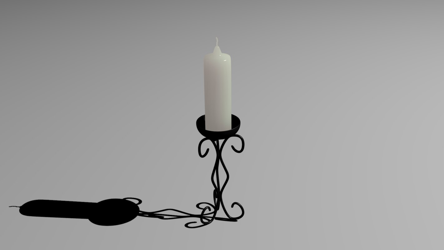 3d candle holder