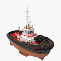tugboat 3 3d model