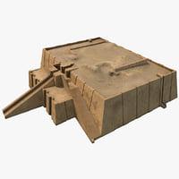 3d model ziggurat