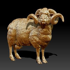3d sculpture ram