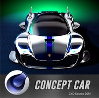 c4d futuristic porsche car design