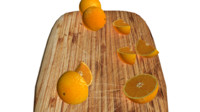 Oranges set + cutting board