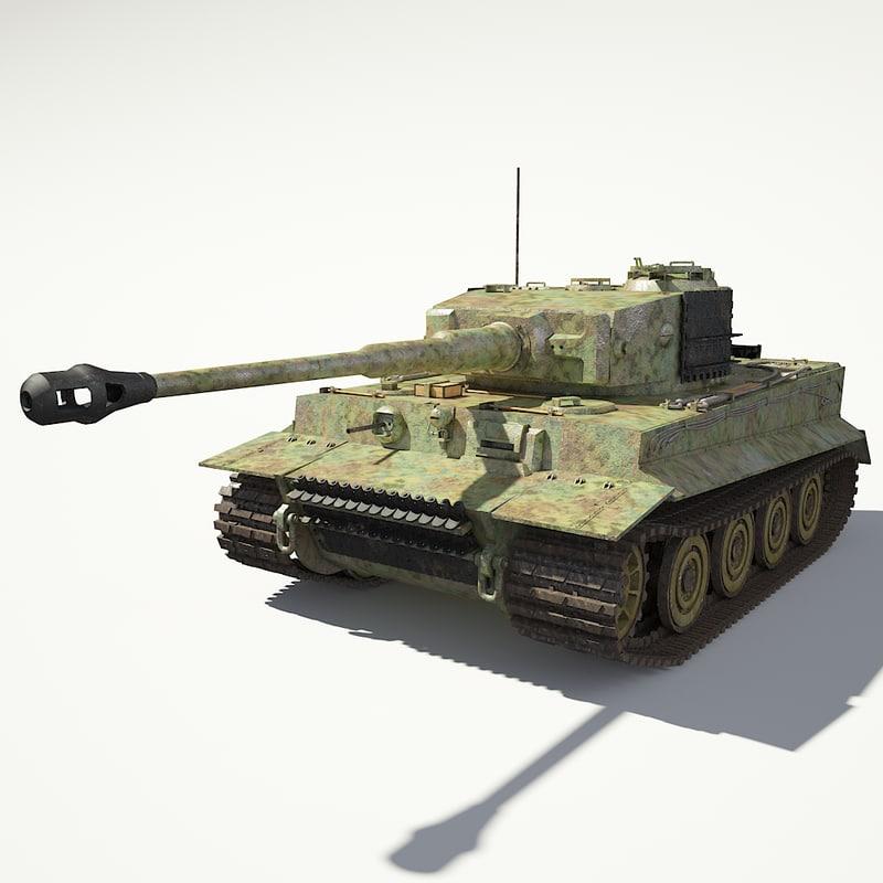 3d tank vi tiger e model