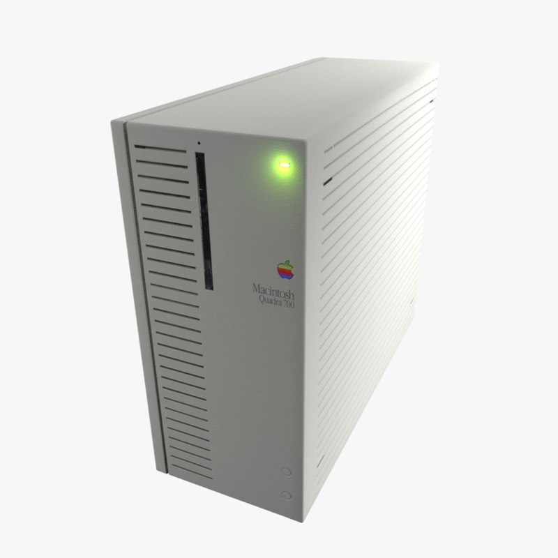 apple quadra 700 3d model