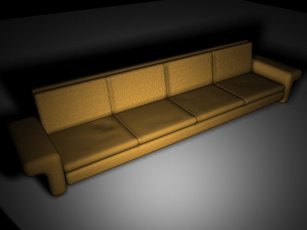 3d model modeled sofa