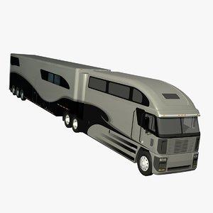 3d model of truck trailer freightliner argosy